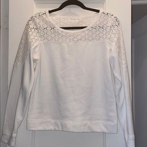Express floral lace sweater